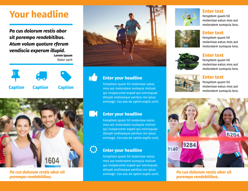 Marathon Race Brochure Template Preview 3