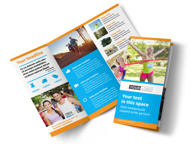 Marathon Race Brochure Template Preview 1