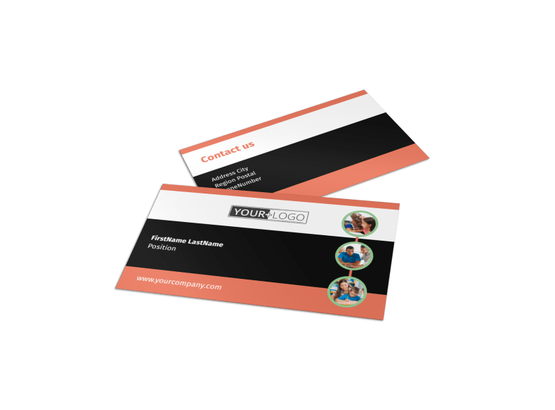 Learning Center & Tutoring Business Card Template Preview 1