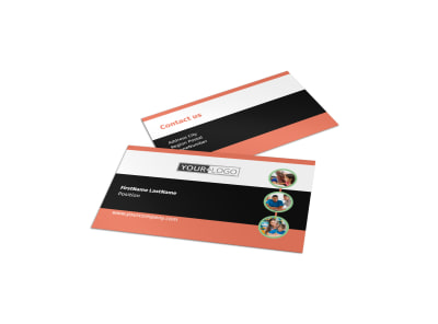 Learning Center & Tutoring Business Card Template preview