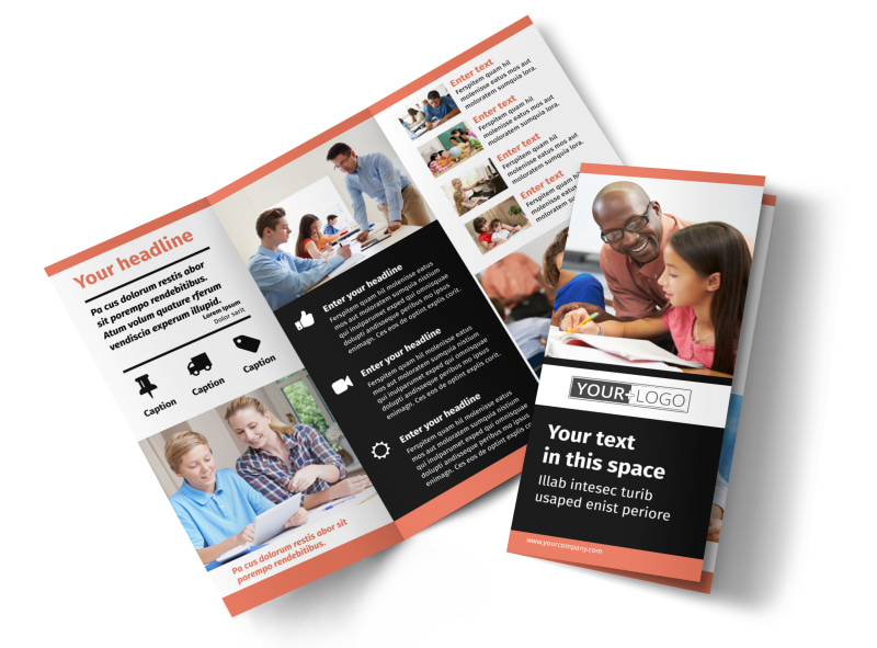 Learning Center & Tutoring Tri-Fold Brochure Template