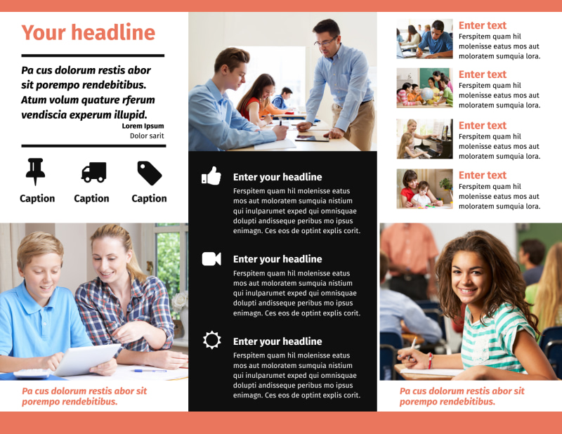 Learning Center & Tutoring Brochure Template Preview 3