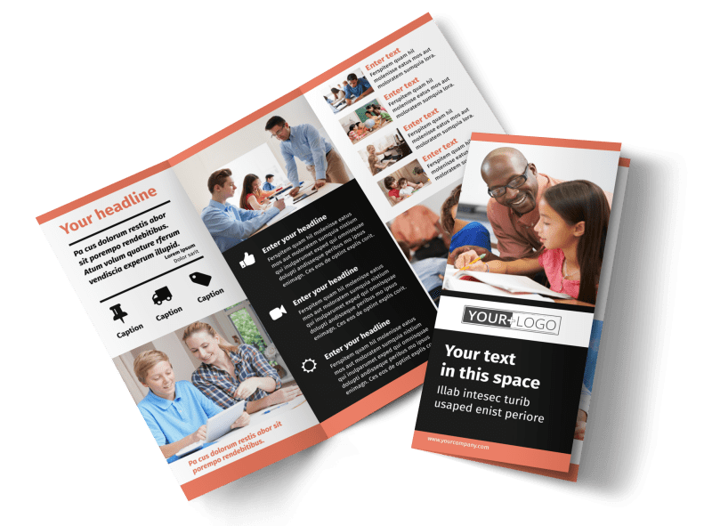 Learning Center & Tutoring Brochure Template Preview 1