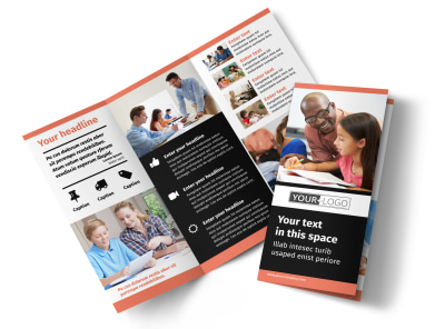 Learning Center & Tutoring Tri-Fold Brochure Template preview