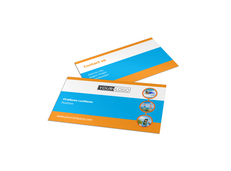 Water Sport Rentals Business Card Template Preview 1