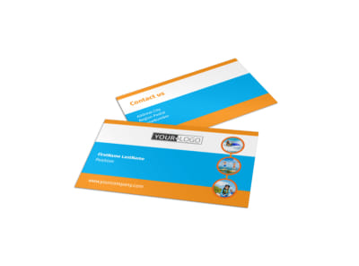 Water Sport Rentals Business Card Template