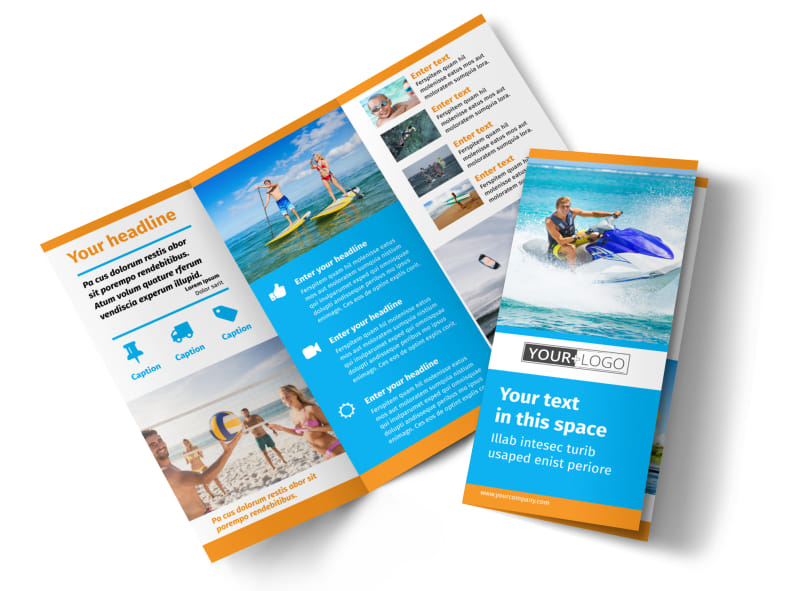 Water Sport Rentals Brochure Template | MyCreativeShop