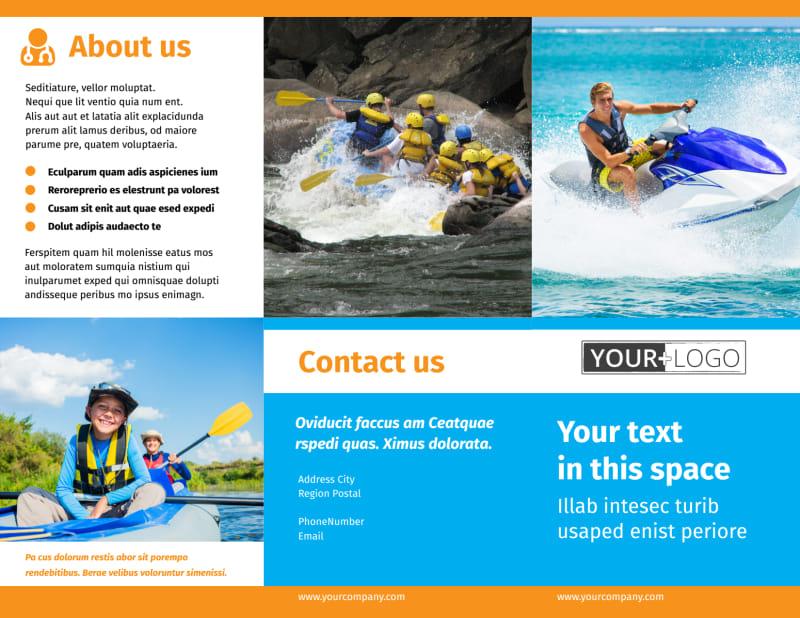 Water Sport Rentals Brochure Template Preview 2