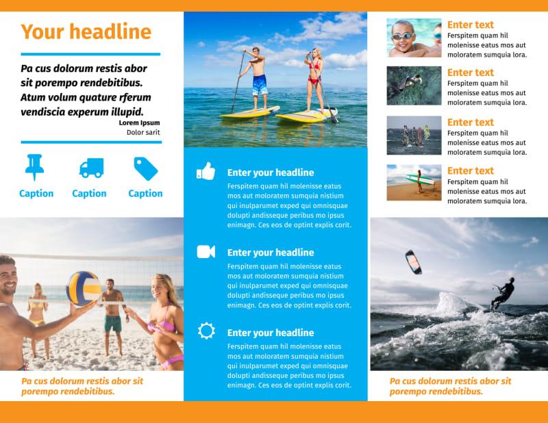 Water Sport Rentals Brochure Template Preview 3