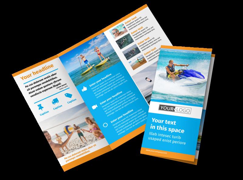 Water Sport Rentals Brochure Template Preview 1