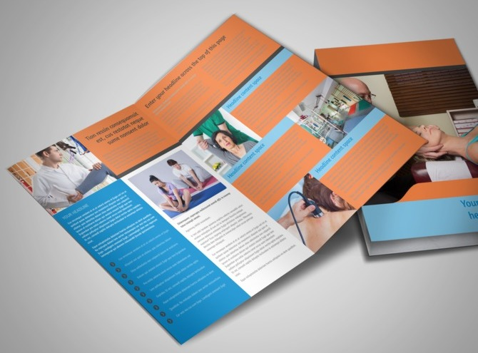 chiropractic brochures template - therapeutic massage chiropractic therapy office brochure