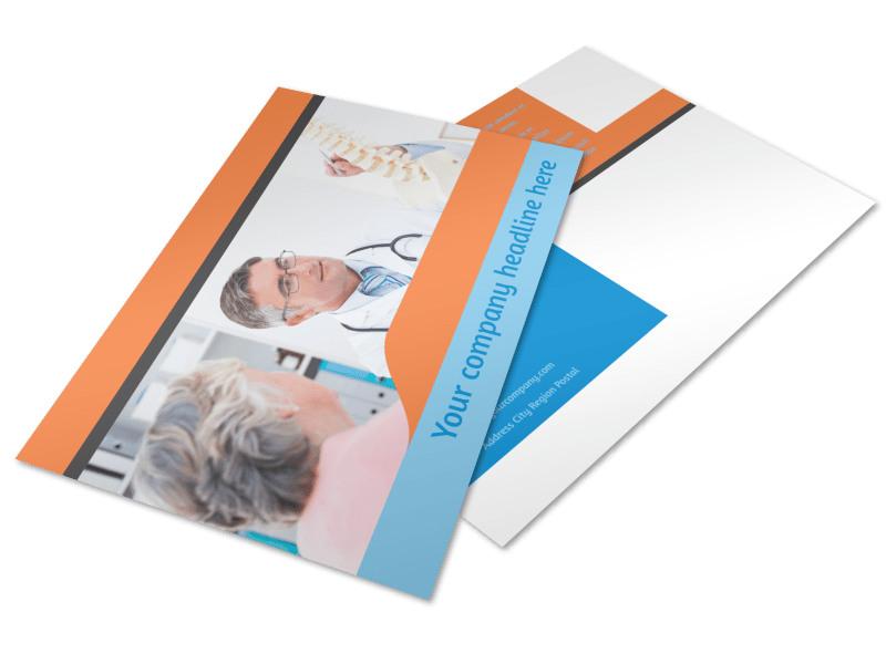 Massage & Chiropractic Office Postcard Template 2