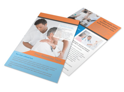 Massage & Chiropractic Office Flyer Template 3 preview