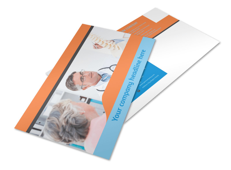 Chiropractic Clinic Postcard Template Preview 4
