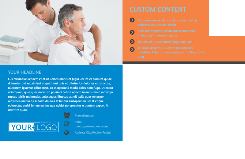 Chiropractic Clinic Postcard Template Preview 3