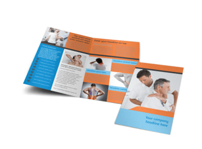 Massage & Chiropractic Office Bi-Fold Brochure Template preview