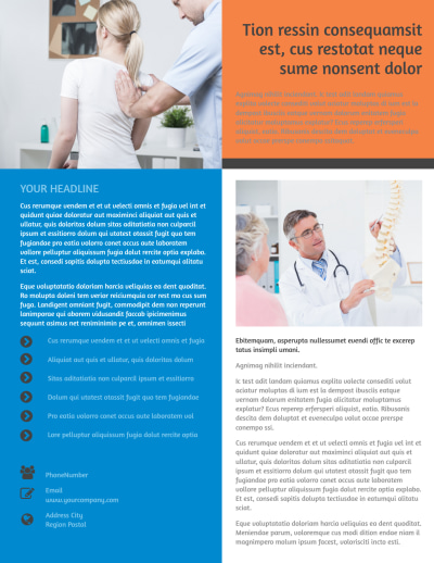 Chiropractic Clinic Flyer Template Preview 2