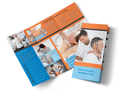 Massage & Chiropractic Office Tri Fold Brochure Template