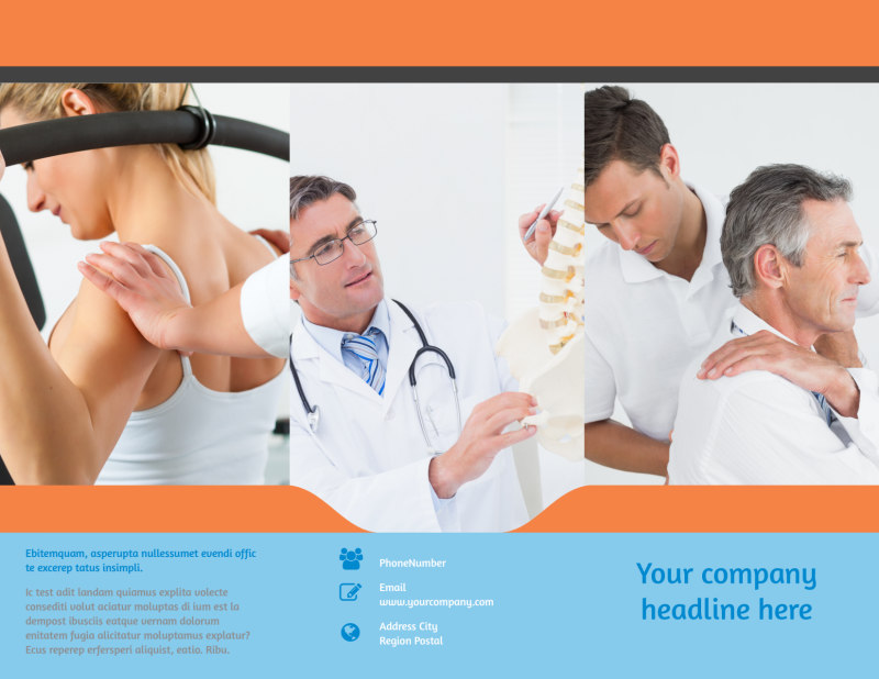 Chiropractic Clinic Brochure Template Preview 2
