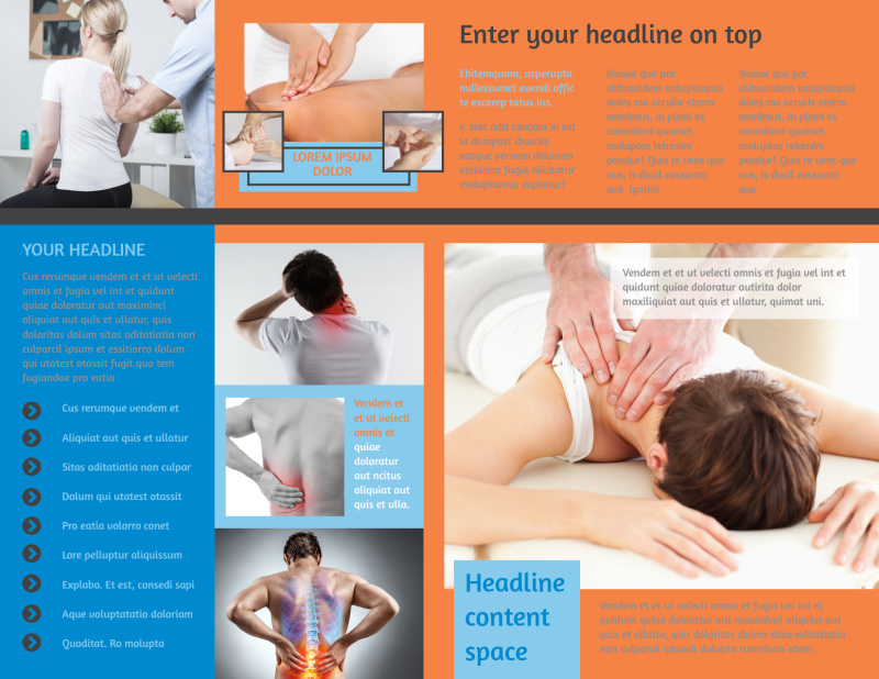 Chiropractic Clinic Brochure Template Preview 3