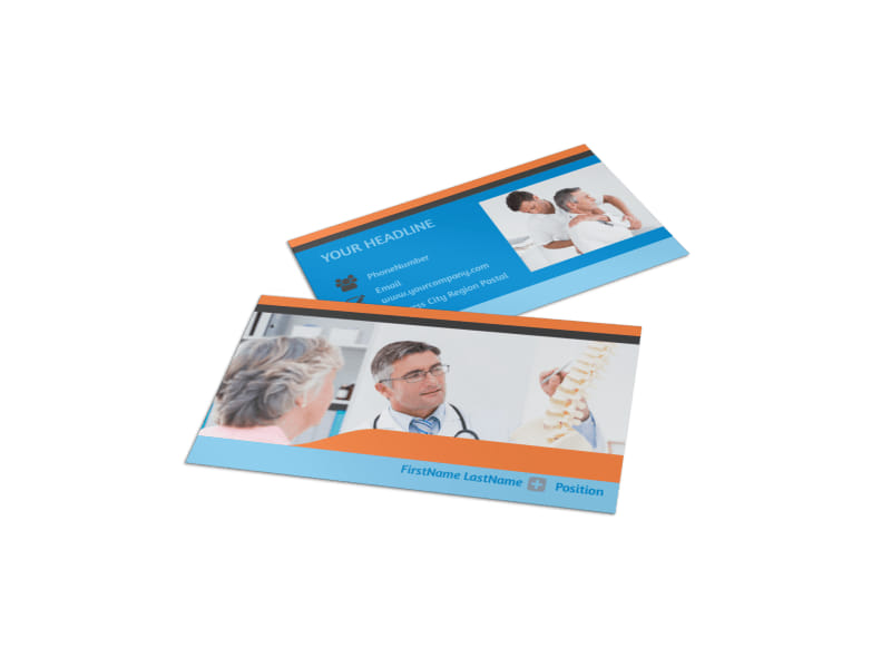 Chiropractic Clinic Business Card Template MyCreativeShop - Office business card template