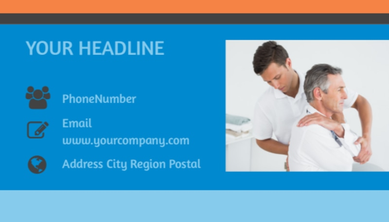 Chiropractic Clinic Business Card Template Preview 3