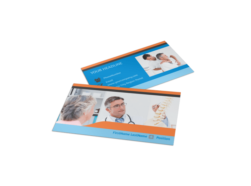 Chiropractic Clinic Business Card Template Preview 1
