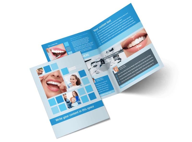 Dental Care Bi-Fold Brochure Template 2