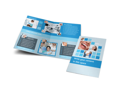 Dental Care Bi-Fold Brochure Template