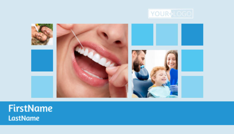 Dental Care Business Card Template Preview 2