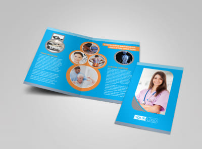 Medical Clinic Bi-Fold Brochure Template
