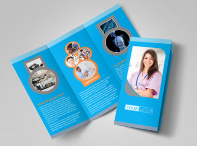 Medical Clinic Tri-Fold Brochure Template