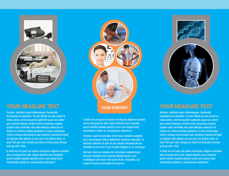 General Medical Service Brochure Template Preview 3