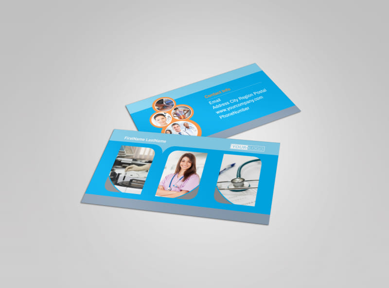 General Medical Service Business Card Template Preview 4