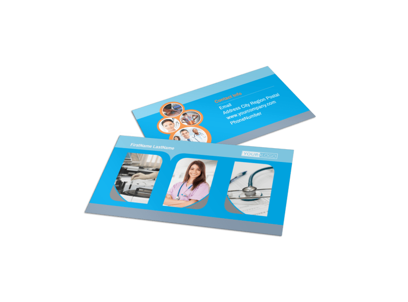 General Medical Service Business Card Template Preview 1