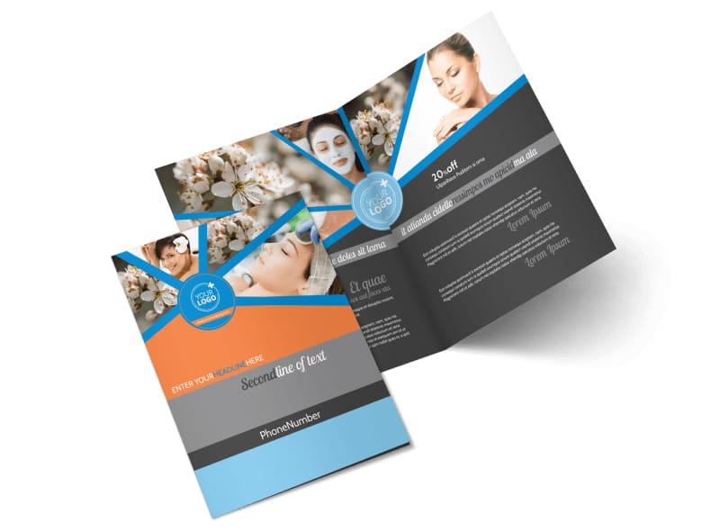 Skin Care Bi-Fold Brochure Template 2