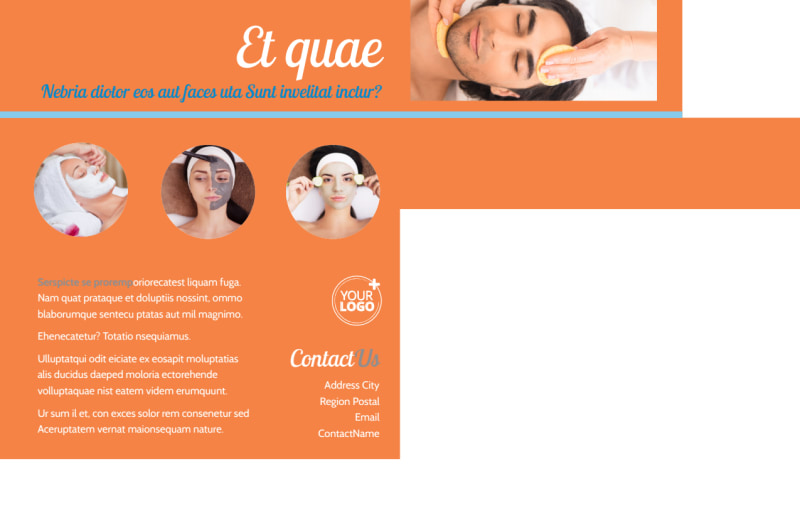 Skin Care Postcard Template Preview 3