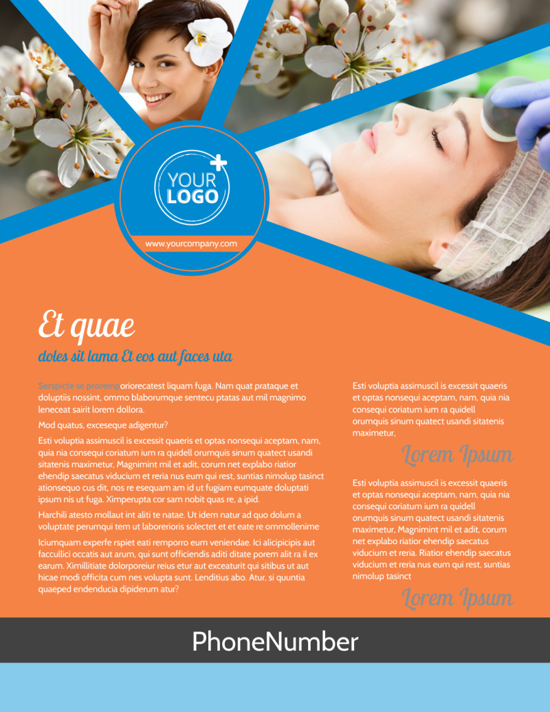 Skin Care Flyer Template Preview 2