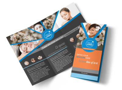 Skin Care Tri-Fold Brochure Template