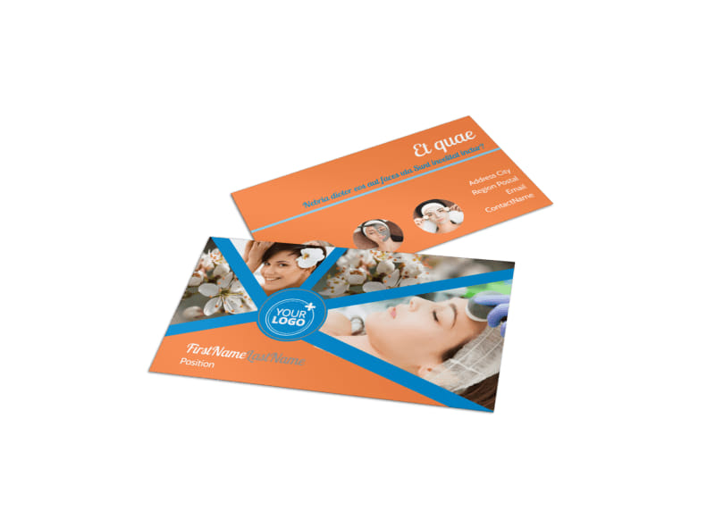 Skin Care Business Card Template Preview 4
