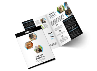 Animal Shelter & Pet Adoption Agency Bi-Fold Brochure Template 2 preview
