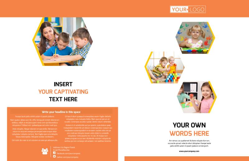 Creative Child Development Brochure Template Preview 2