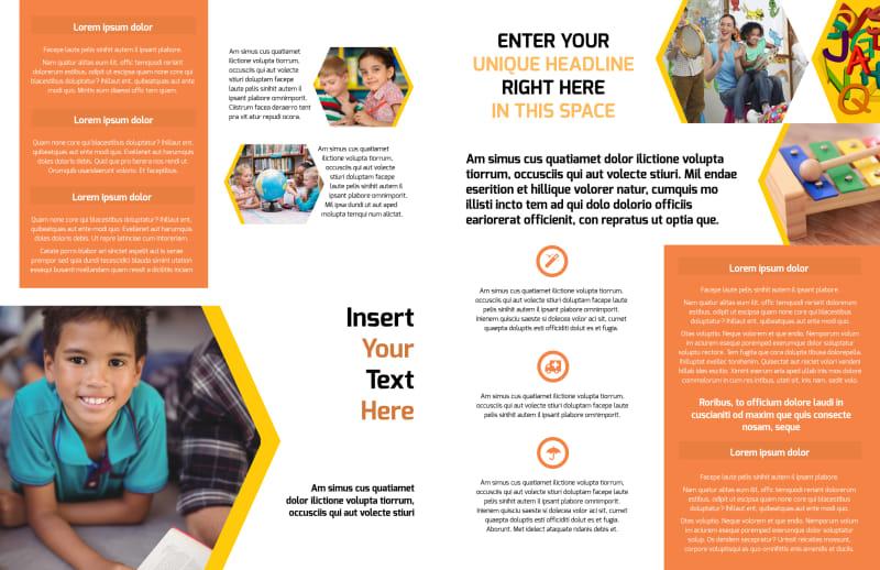 Creative Child Development Brochure Template Preview 3