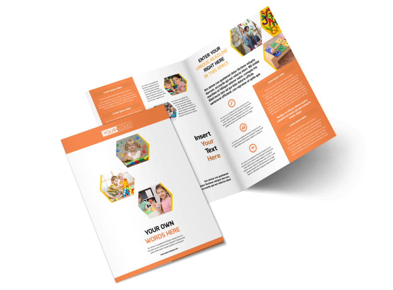Child Development School Bi-Fold Brochure Template 2