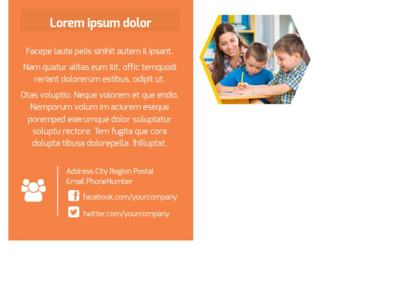 Creative Child Development Postcard Template Preview 3
