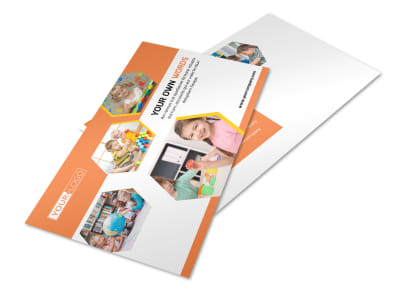 Child Development School Postcard Template 2