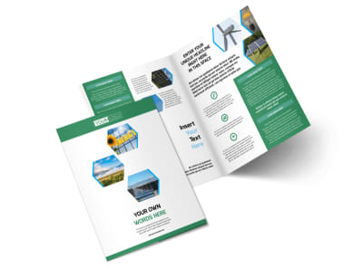Green Energy Technology Bi-Fold Brochure Template 2