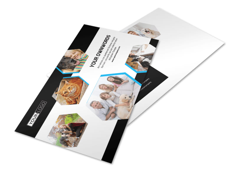 Animal Shelter & Pet Adoption Agency Postcard Template Preview 4