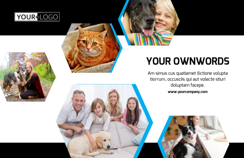 Animal Shelter & Pet Adoption Agency Postcard Template Preview 2