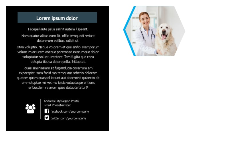 Animal Shelter & Pet Adoption Agency Postcard Template Preview 3